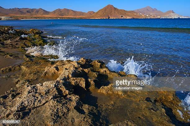 Los Genoveses beach Genoveses Cove Ensenada de los Genoveses Cabo de GataNijar Natural Park Biosphere Reserve Almeria province Andalusia Spain Europe
