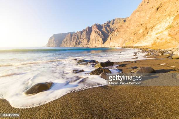 los gigantes cliff - tenerife stock pictures, royalty-free photos & images
