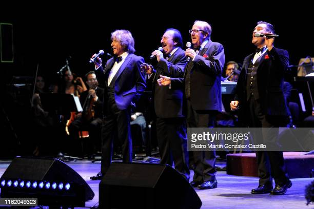 Los Hermanos Castro perform during a tribute concert for Gualberto Castro at Teatro de La Ciudad on July 14, 2019 in Mexico City, Mexico.