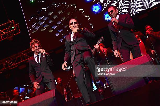 Los Hermanos Rosario perform onstage during the Mega 97.9 Megaton Concert at Madison Square Garden on October 28, 2015 in New York City.