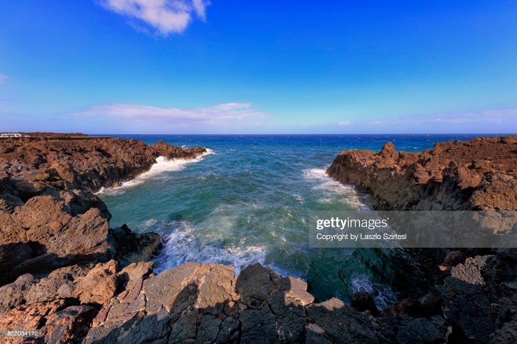 Los Hervideros in Lanzarote : Stock Photo
