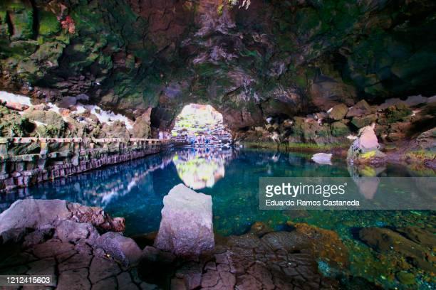los jameos del agua in lanzarote - lanzarote stock pictures, royalty-free photos & images