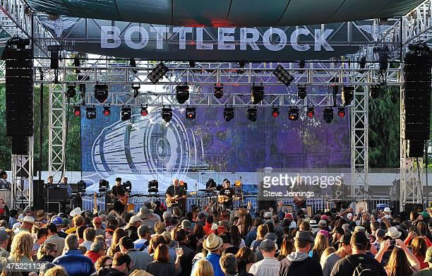 Los Lobos perform at the 3rd Annual BottleRock Napa Valley Music Festival at Napa Valley Expo on May 29 2015 in Napa California
