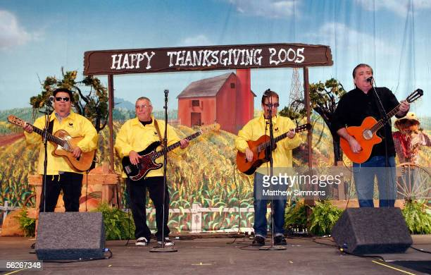 Los Lobos performs onstage at the Salvation Army's Southern California Thanksgiving Eve Dinner at the Los Angeles Convention Center on November 23...