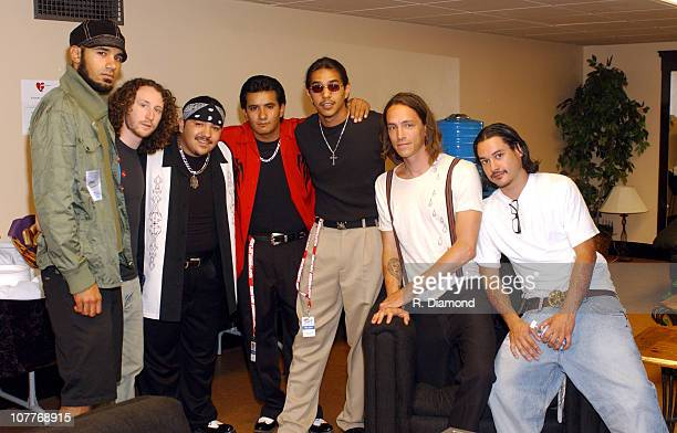 Los Lonely Boys with Incubus during The 5th Annual Latin GRAMMY Awards Backstage and Audience at Shrine Auditorium in Los Angeles California United...