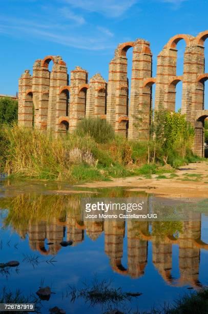 Los Milagros Roman aqueduct, Extremadura, Spain