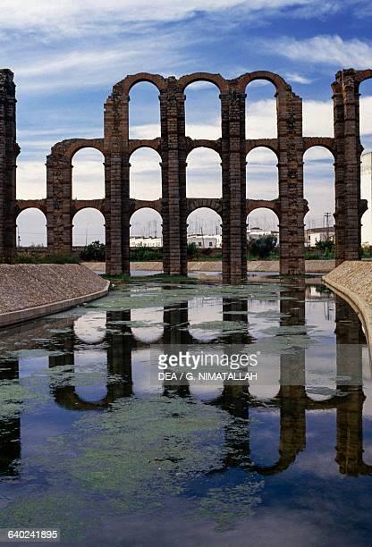 Los Milagros Roman aqueduct Merida Extremadura Spain Roman civilisation 1st century