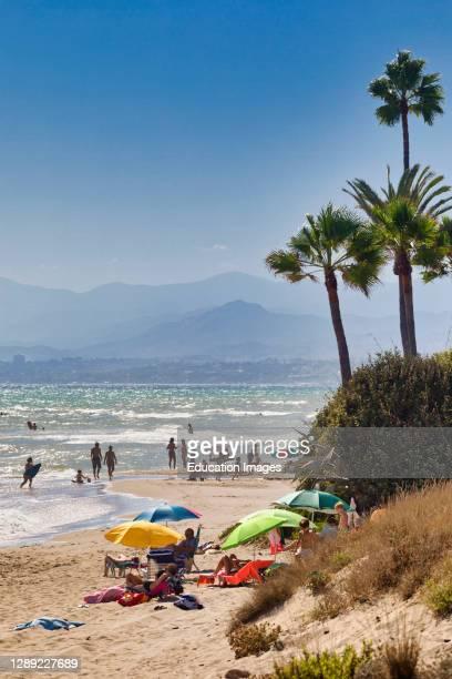 Los Monteros beach near Marbella, Costa del Sol, Malaga Province, Andalusia, Spain.