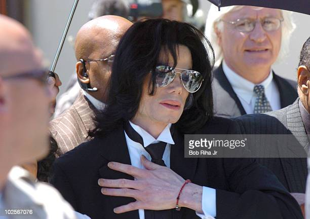 Los Olivos, CA-- Michael Jackson leaves the courthouse after being found 'not-guilty' on all charges against him.