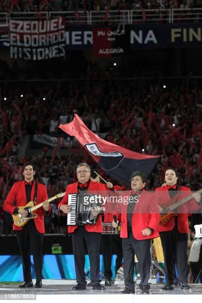 Los Palmeras perform prior to the final of Copa CONMEBOL Sudamericana 2019 between Colon and Independiente del Valle at Estadio General Pablo Rojas...