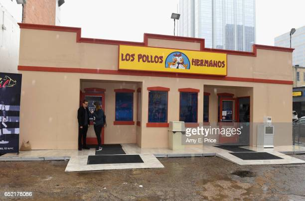 Los Pollos Hermanos popup is seen during 2017 SXSW Conference and Festivals on March 11 2017 in Austin Texas