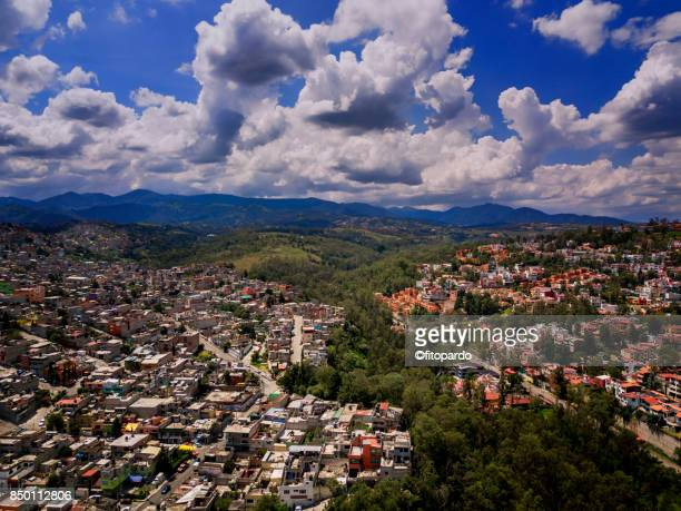 los remedios, naucalpan aerials, over looking mexico city in the background - mexico city aerial stock pictures, royalty-free photos & images