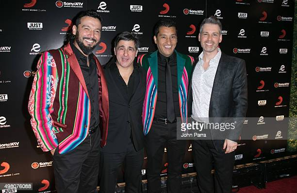 Los Tekis Afo Verde and Nir Seroussi attend Sony Music Latin's Official Latin Grammy After Party at XS nightclub at Encore Las Vegas on November 19...