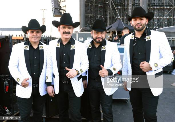 Los Tucanes de Tijuana pose for a photo at Coachella Stage during the 2019 Coachella Valley Music And Arts Festival on April 12 2019 in Indio...