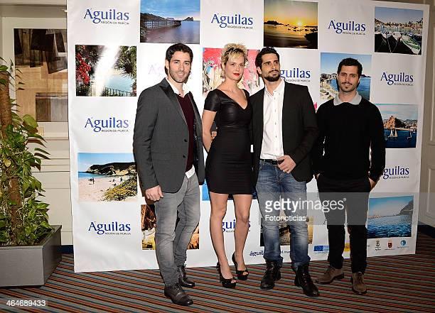 Los Vivancos and Miriam Sanchez attend 'Aguilas' Gala at Husa Princesa Hotel on January 23 2014 in Madrid Spain