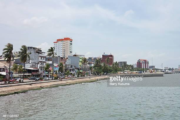 losari beach makassar - makassar stock pictures, royalty-free photos & images