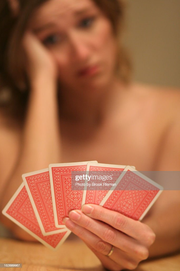 Woman stripping game