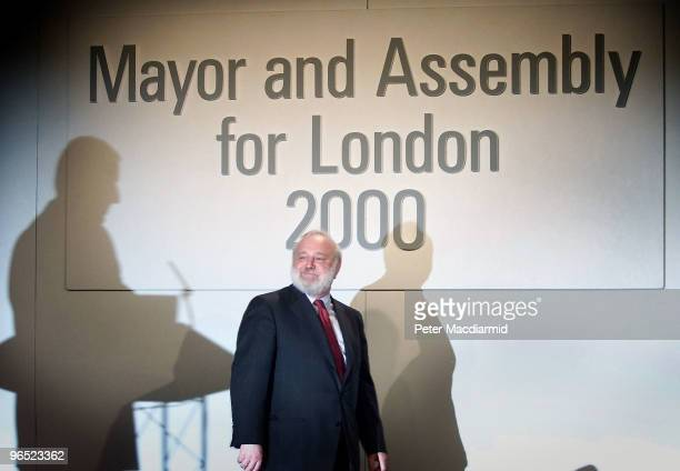 Losing candidate Frank Dobson arrives on stage at the Queen Elizabeth Conference Centre in London for the declaration of the London Mayoral Election...
