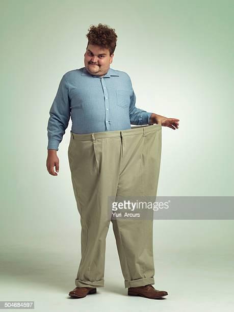 Gewichtsabnahme langsam aber sicher auf