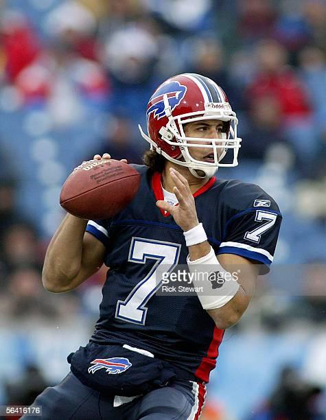 Losman of the Buffalo Bills the New England Patriots on December 11 2005 at Ralph Wilson Stadium in Orchard Park New York