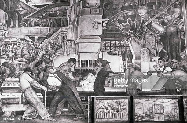 Lost and Found. Detroit: At the Detroit Institute of Arts, this section of Diego Rivera's famous Detroit Industry fresco represents production and...