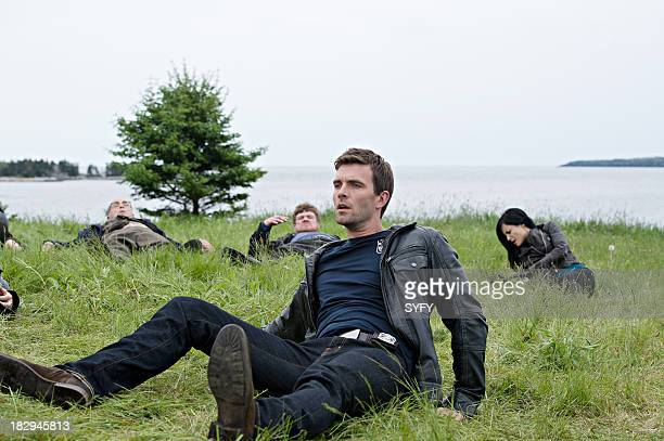 HAVEN Lost and Found Episode 404 Pictured John Dunsworth as Dave Teagues Lucas Bryant as Nathan Wournos Kate Kelton as Jordan McKee