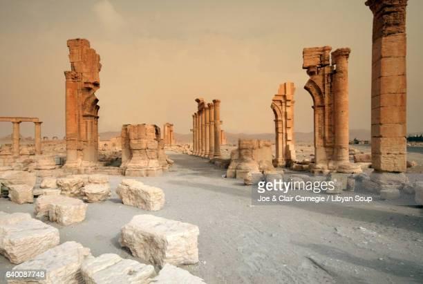 Lost Arch of Triumph in Palmyra, Syria.