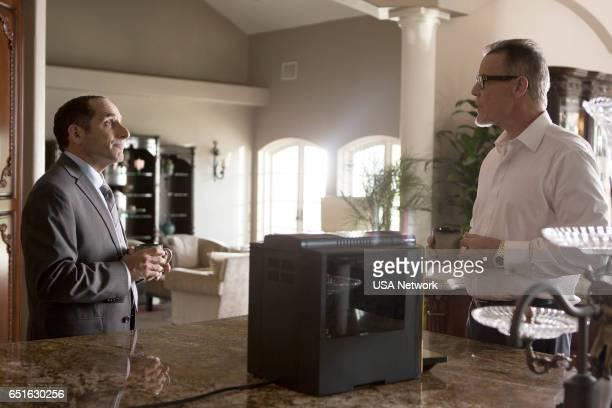 COLONY 'Lost Boy' Episode 211 Pictured Peter Jacobson as Proxy Alan Snyder Andrew Divoff as Ambassador King