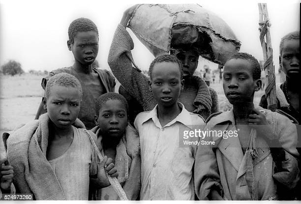 Lost Boys arrive in Nasir Southern Sudan after fleeing Itang refugee camp in Ethiopia after a two week journey 1991 Since the late 1980's Sudan's...