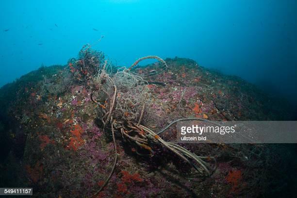 Lost Fishing Net over Reef Cap de Creus Costa Brava Spain