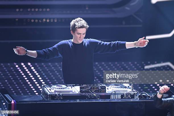 Lost Frequencies attends the fourth night of the 66th Festival di Sanremo 2016 at Teatro Ariston on February 12 2016 in Sanremo Italy