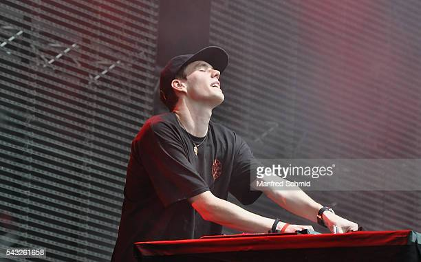 Lost Frequencies performs on stage at Donauinselfest DIF 2016 Vienna at Donauinsel on June 26 2016 in Vienna Austria