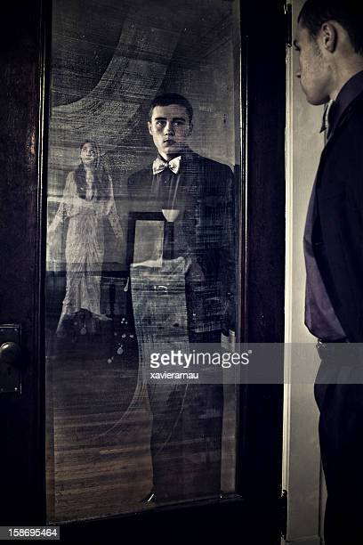lost ghosts - see thru nightgown stock photos and pictures