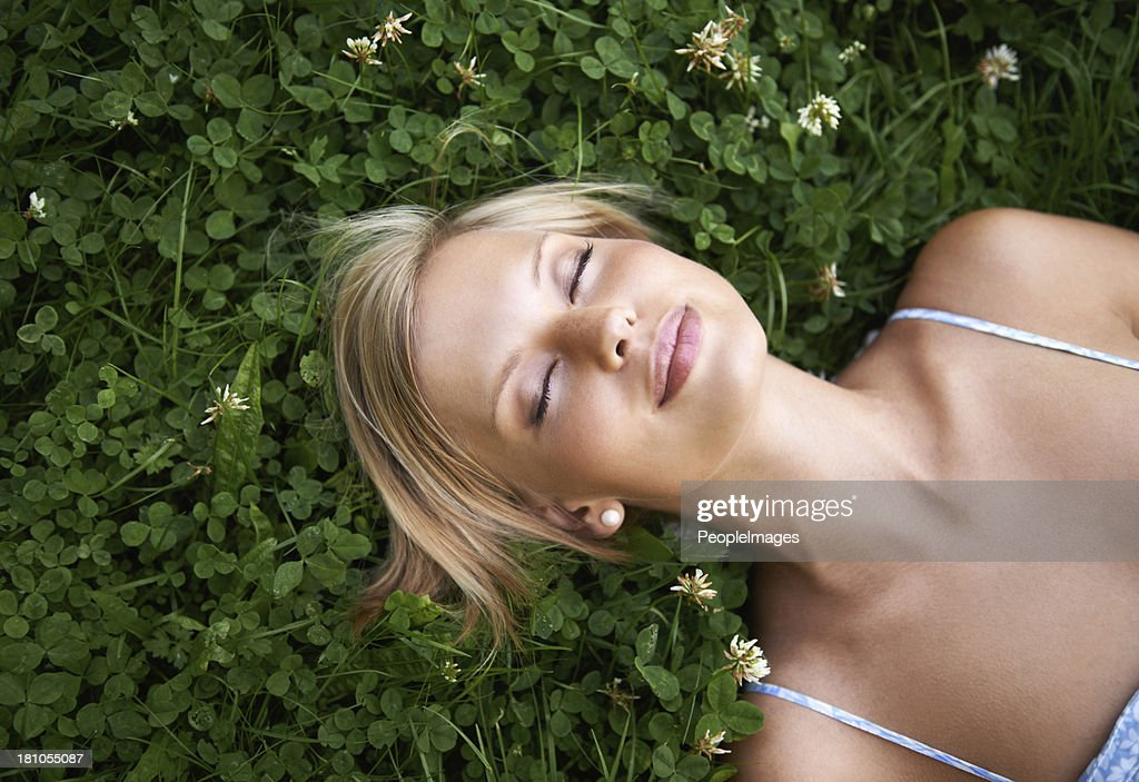 Lost in dreams of spring : Stock Photo