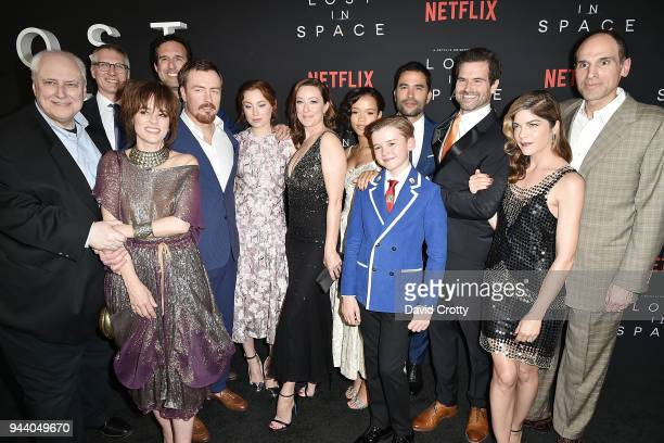 Lost In Space cast and crew Kevin Burns Parker Posey Guest Zack Estrin Toby Stephens Mina Sundwall Molly Parker Taylor Russell Maxwell Jenkins...