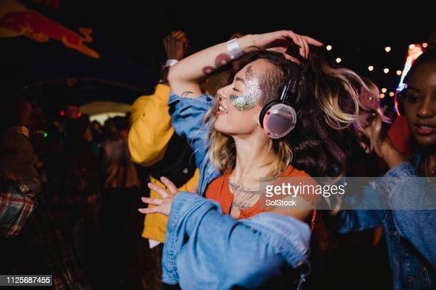 lost in the silent disco - cultures stock pictures, royalty-free photos & images