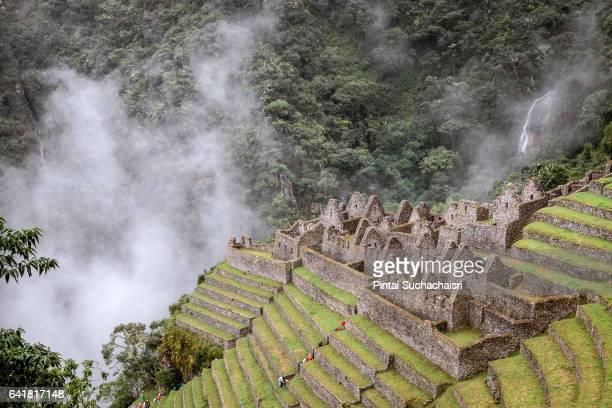 Lost Inca City of Winaywayna on the Inca Trail, Peru