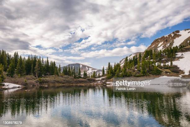 lost lake in the collegiate wilderness, colorado - national forest stock pictures, royalty-free photos & images