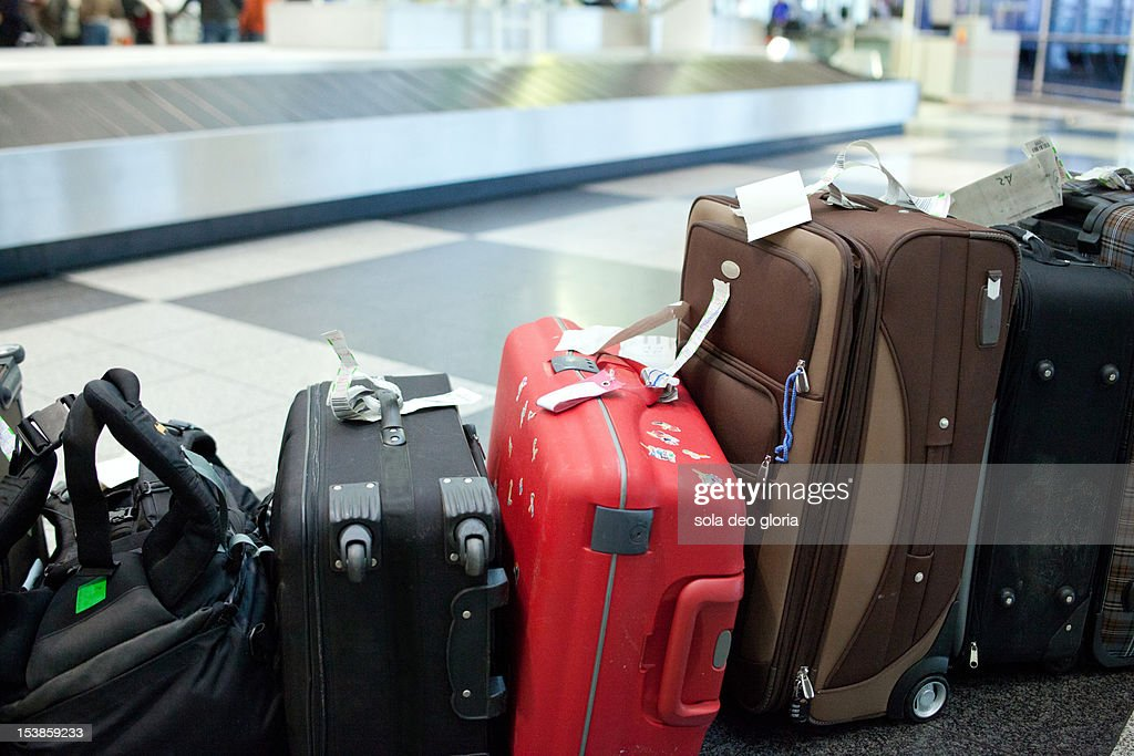 lost luggage : Stock Photo