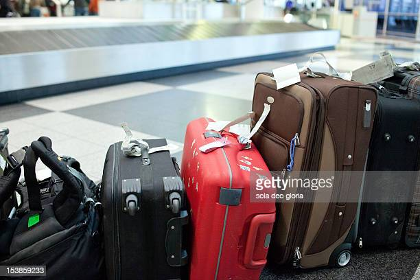 lost luggage - baggage claim stock photos and pictures