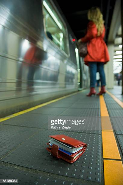 lost purse lying on the floor