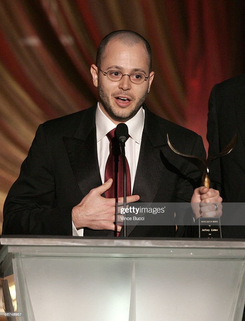 'Lost' show creator/Executive Producer Damon Lindelof accepts the Television Dramatic Series award for 'Lost' onstage during the 2006 Writers Guild Awards held at The Hollywood Palladium on February 4, 2006 in Hollywood, California.