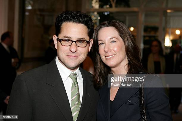 'Lost' show creator/Executive Producer JJ Abrams and Producer Kathleen Kennedy attend the AFI Awards Luncheon 2005 held at the the Four Seasons Hotel...