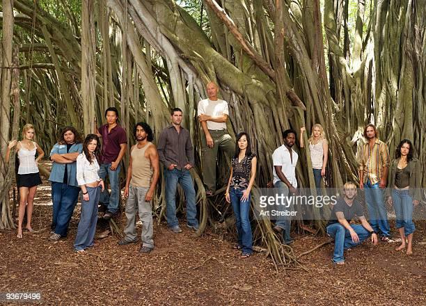 LOST 'Lost' stars Maggie Grace as Shannon Jorge Garcia as Hurley Evangeline Lilly as Kate Daniel Dae Kim as Jin Naveen Andrews as Sayid Matthew Fox...