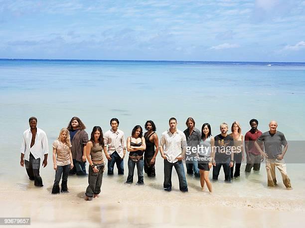 LOST 'Lost' stars Terry O'Quinn as Locke Emilie de Ravin as Claire Jorge Garcia as Hurley Evangeline Lilly as Kate Daniel Dae Kim as Jin Michelle...