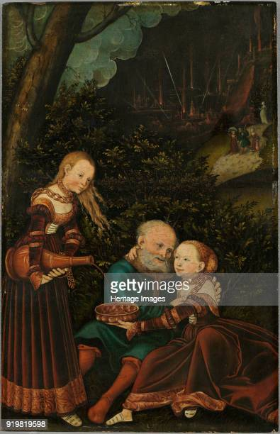 Lot and his Daughters 1529 Found in the collection of Staatsgalerie Aschaffenburg