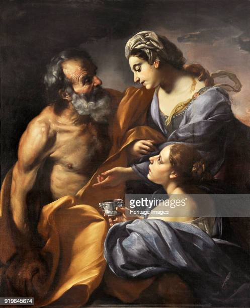 Lot and his Daughters 1685 Found in the Collection of Palazzo Chigi Ariccia