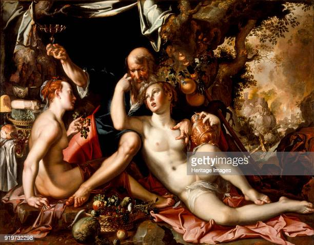 Lot and his Daughters ca 1595 Found in the Collection of State Hermitage St Petersburg