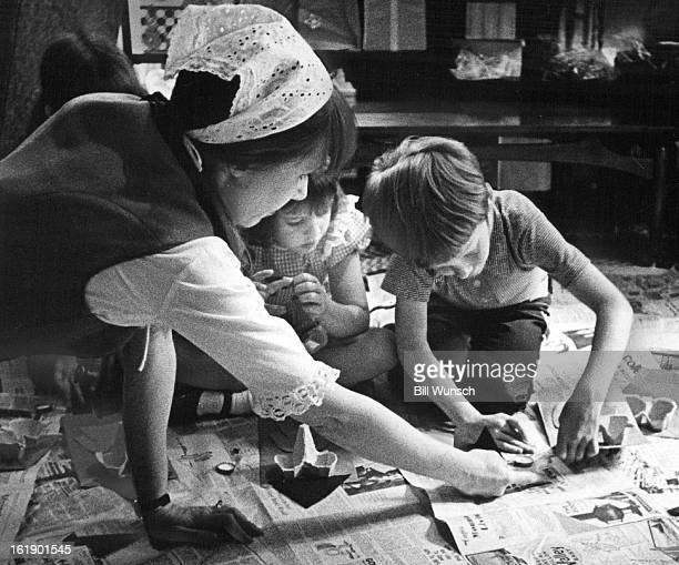 JUN 1973 JUN 19 1973 JUN 24 1973 A lot of concentrated effort is necessary to construct a puppet Mrs Sweeney lends a hand