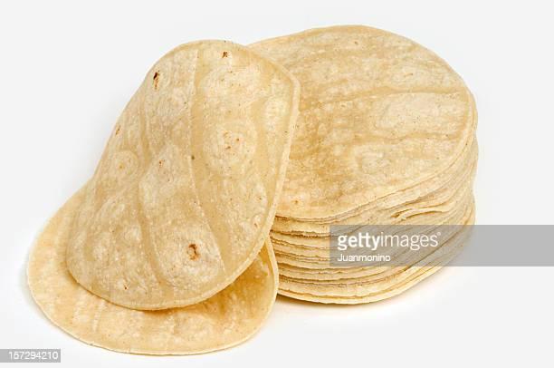 Lot of corn mexican tortillas